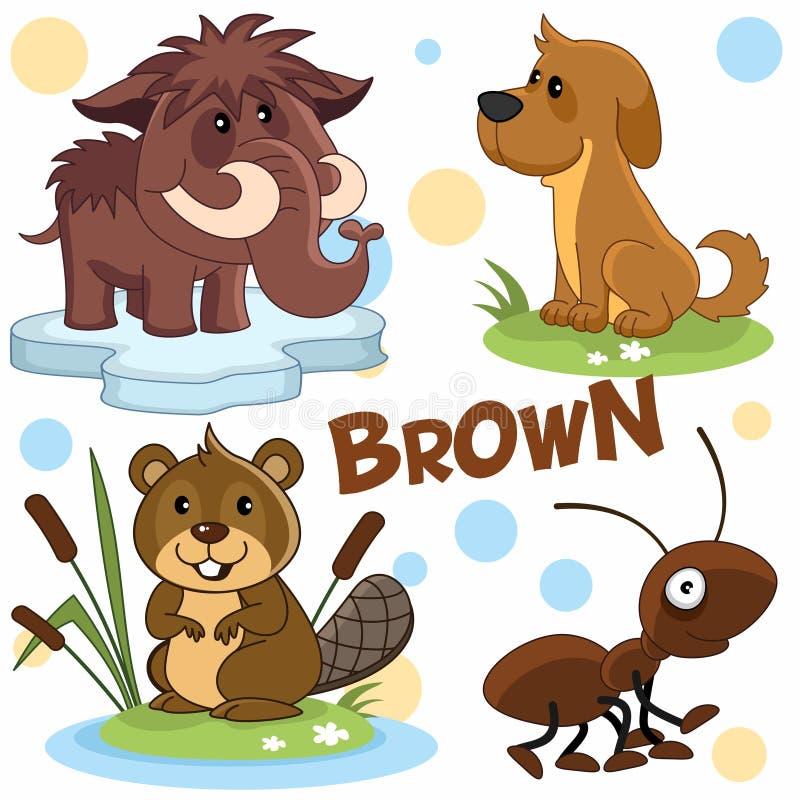 Les animaux sauvages et les insectes des animaux de la couleur verte 2Wild sont brown2 illustration libre de droits