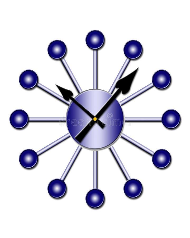 les années 50 dénomment la rétro horloge illustration de vecteur