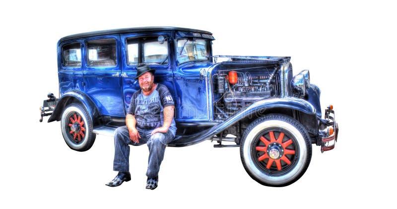 Les années 1920 Chrysler de vintage d'isolement sur un fond blanc images stock