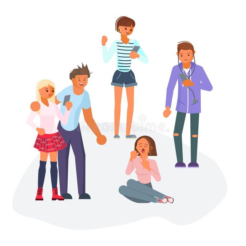 Les années de l'adolescence raillent pour l'adolescente triste illustration libre de droits