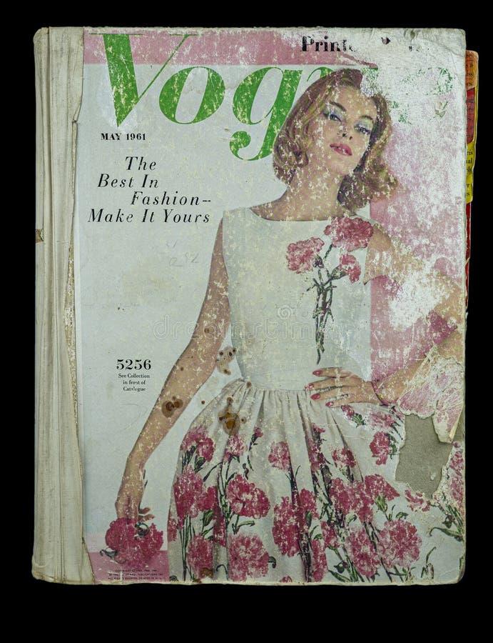 les années 1960 Vogue 5256 Vogue de couverture de catalogue de compteur en mai 1961 image libre de droits