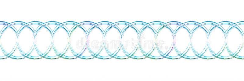 Les anneaux de l'eau ont aligné illustration libre de droits