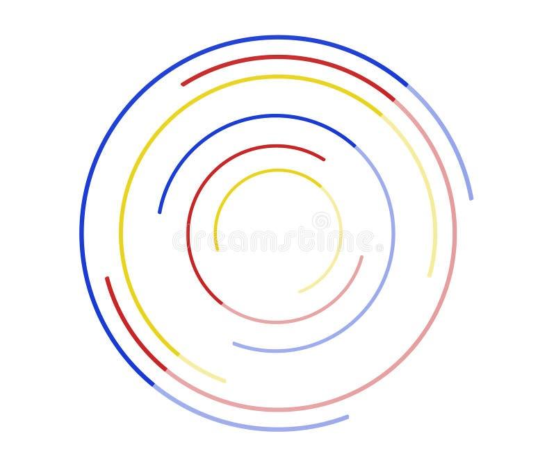 Les anneaux tournent l'icône, logo, concept d'infini de mouvement, effet de gradient illustration stock