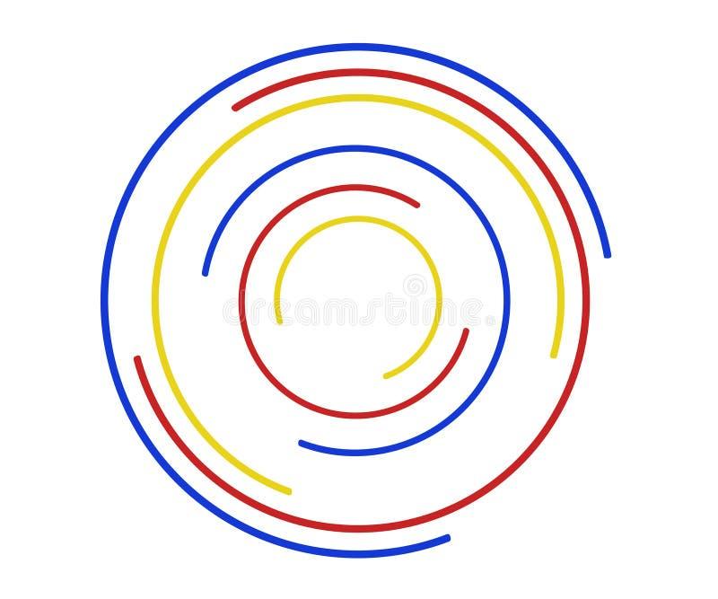 Les anneaux tournent l'ic?ne, logo, signe, concept d'infini de mouvement illustration libre de droits