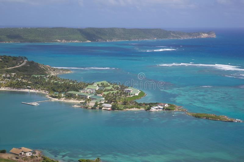 Les Antilles, les Caraïbe, Antigua, vue de la baie de Mamora, St James Club photo libre de droits