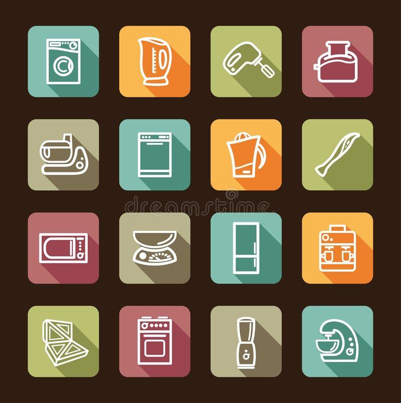 les appareils autoguident la cuisine Illustration de vecteur illustration de vecteur