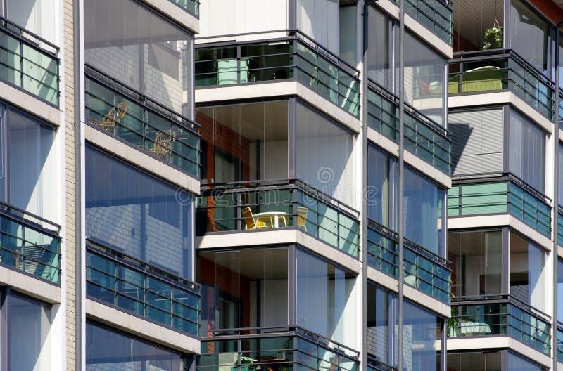 Les appartements modernes se ferment vers le haut images libres de droits