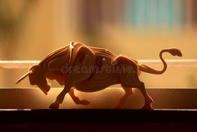 Les aquarelles de bull images stock