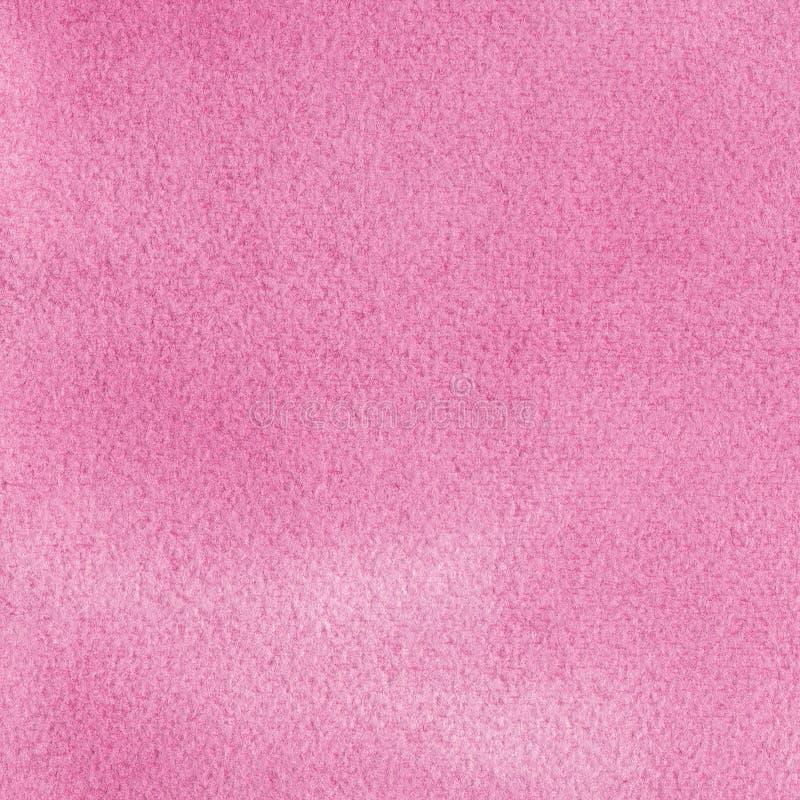 Les aquarelles faites main naturelles roses d'aquarelle peignent le fond de modèle de texture, macro texturisé vertical de peintu photographie stock