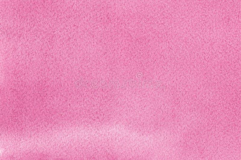 Les aquarelles faites main naturelles roses d'aquarelle peignent le modèle de texture, plan rapproché texturisé horizontal de mac photographie stock