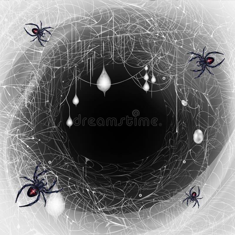 Les araignées de veuve noire nichent le vecteur 3d réaliste illustration de vecteur