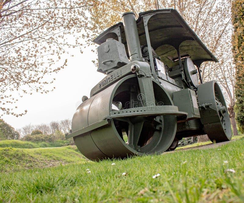 Les armes antiaériennes italiennes dans la deuxième guerre mondiale, ils ont protégé la lagune vénitienne contre des bateaux et d photo stock