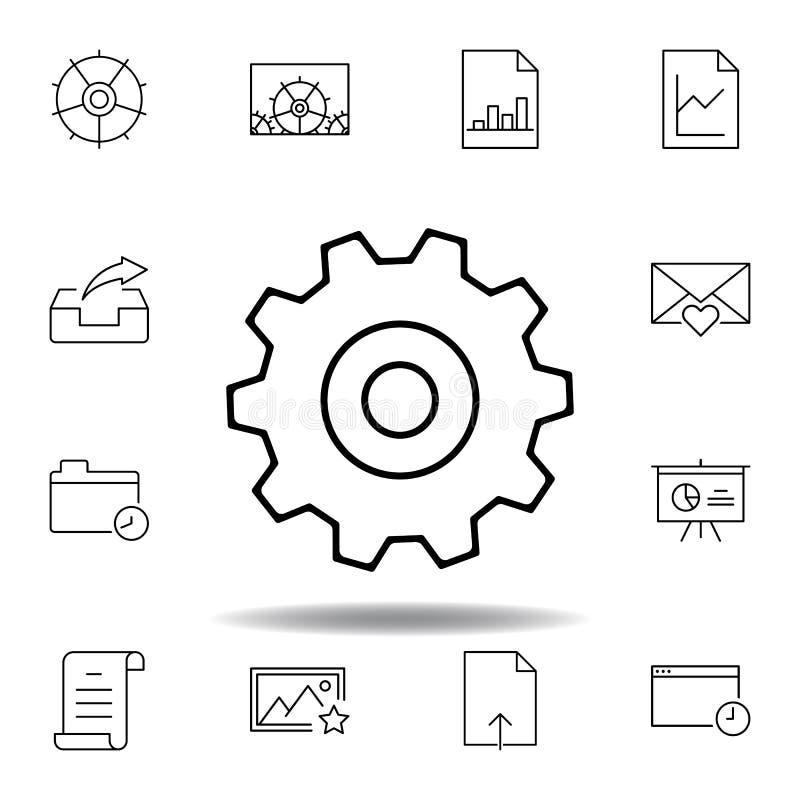 Les arrangements d'ajustement embrayent l'ic?ne d'ensemble Ensemble détaillé d'icônes d'illustrations de multimédia d'unigrid Peu illustration libre de droits