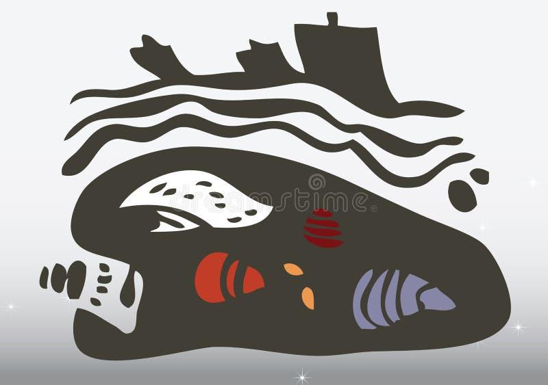 les arts indigènes dessinent la main illustration stock