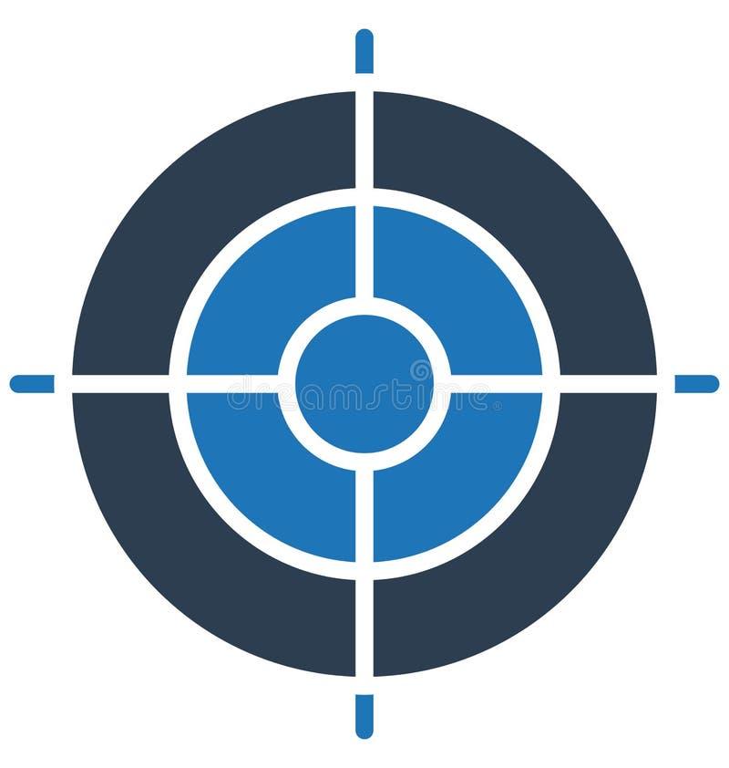 Les aspirations, icône d'isolement de vecteur de but d'affaires peuvent être facilement éditent et modifient illustration stock