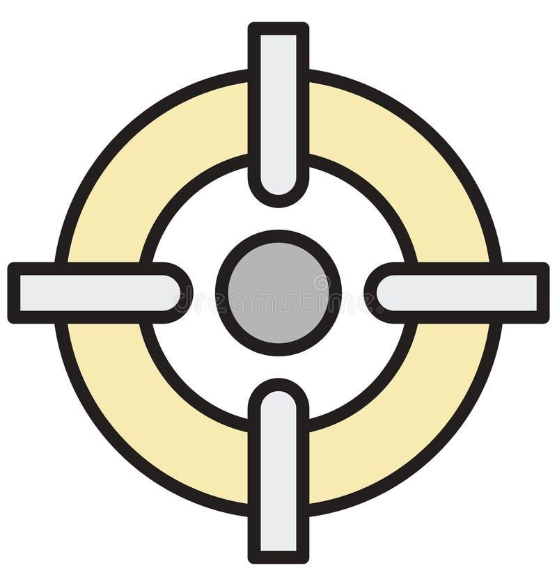 Les aspirations, icône d'isolement de vecteur de but d'affaires peuvent être facilement éditent et modifient illustration de vecteur