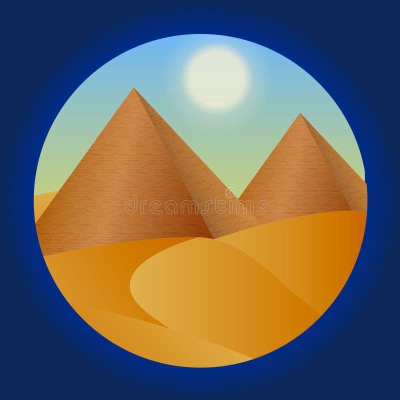 Les attractions de l'Egypte, merveilles du monde, pyramide illustration de vecteur