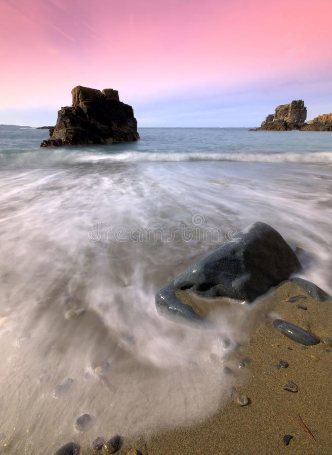 Download Les Auteles Bay in Sark stock image. Image of stones - 26364901