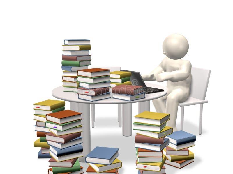 Les auteurs ont besoin de beaucoup d'informations illustration de vecteur