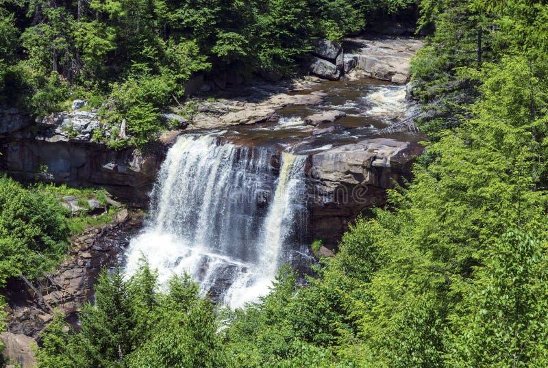 Les automnes de Blackwater au Blackwater tombe parc d'état en Virginie Occidentale images stock