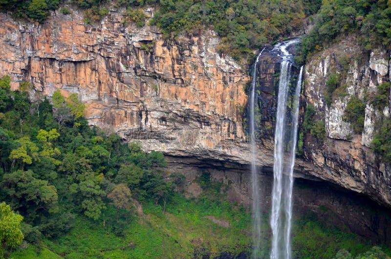 Les automnes de Caracol, ou le Cascata font Caracol, Canela, Brésil images stock