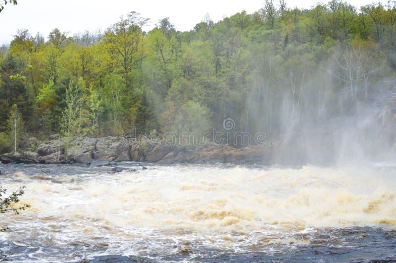 Les automnes première génération endiguent Merrill, le Wisconsin photos stock
