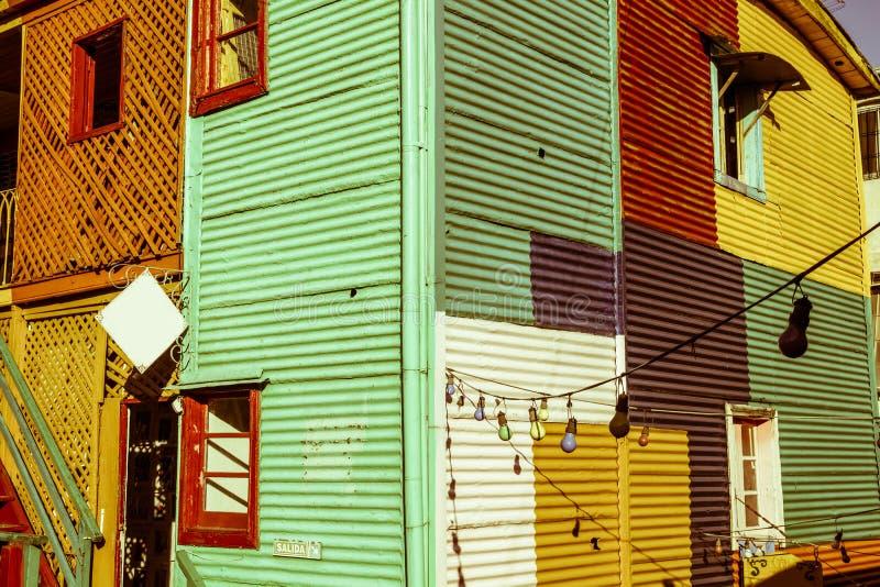 Les bâtiments colorés de la La Boca, Buenos Aires, Argentine image stock
