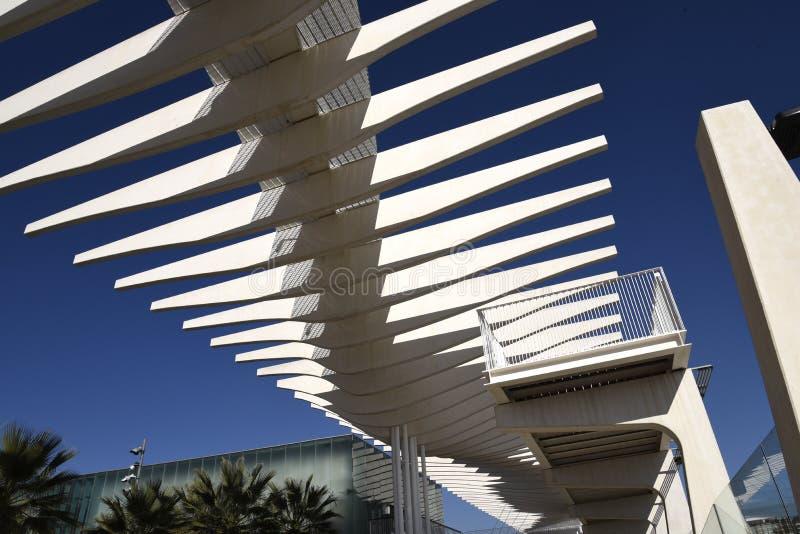 Les bâtiments de port de Malaga dans Andalousie Espagne photos stock