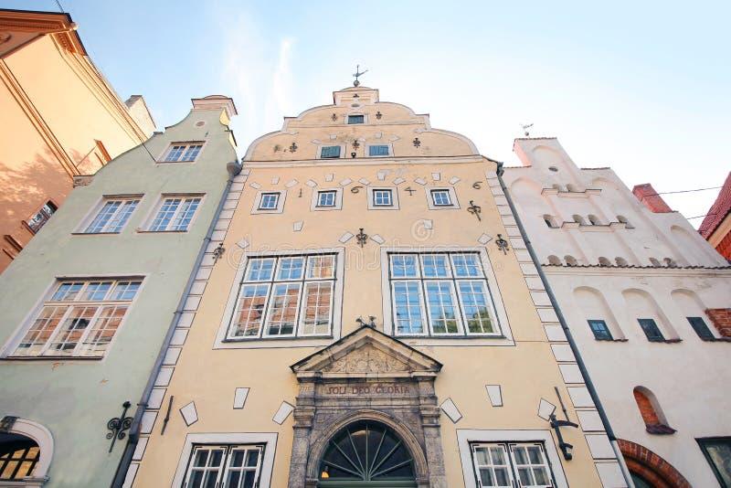 Les bâtiments les plus anciens à Riga photo stock