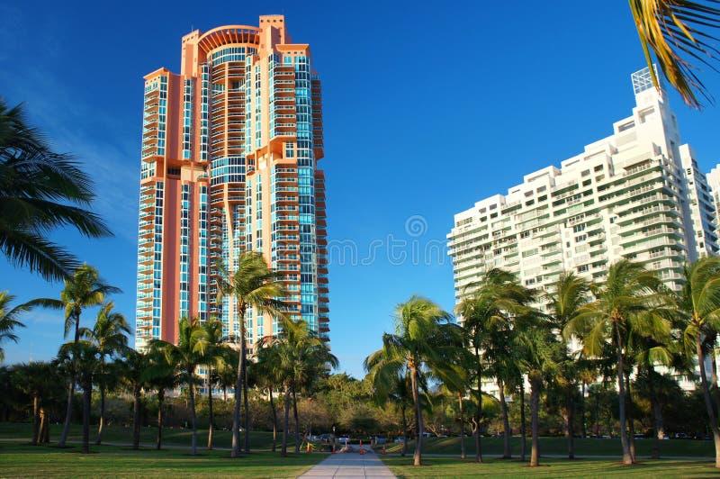 Les bâtiments les plus grands de Miami Beach photos stock