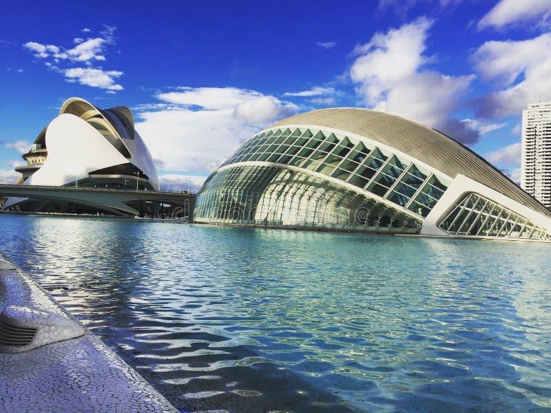 Les bâtiments spéciaux d'architecture en Espagne, Valence photos stock