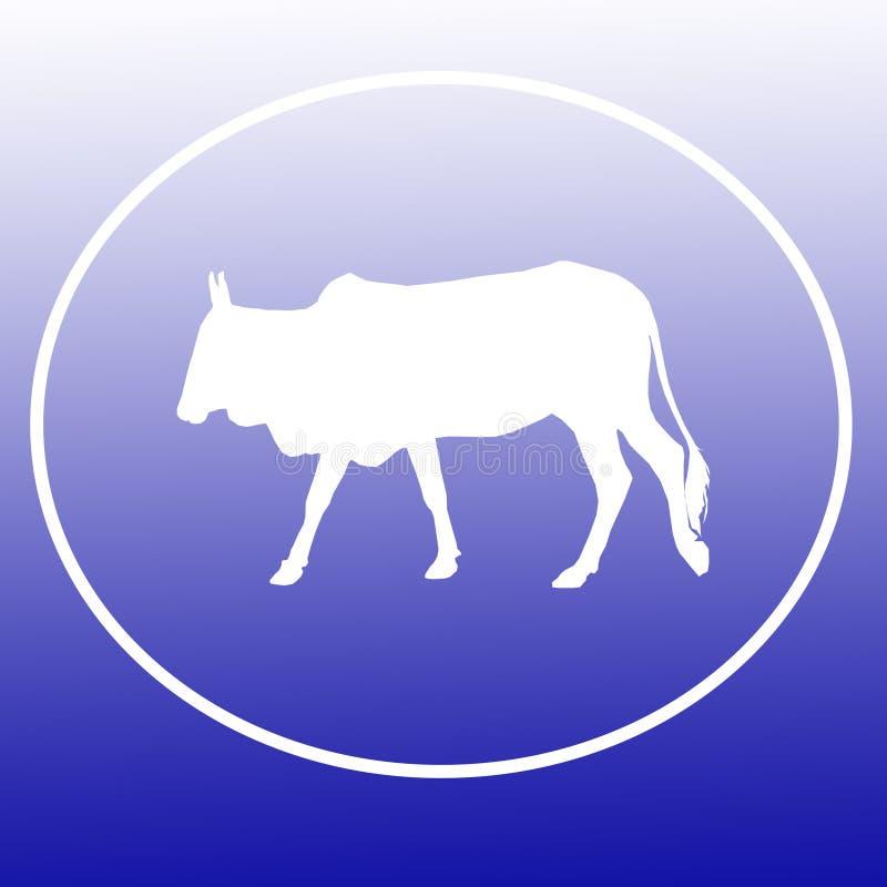 Les bétail domestiques effrayent Logo Background Banner illustration stock