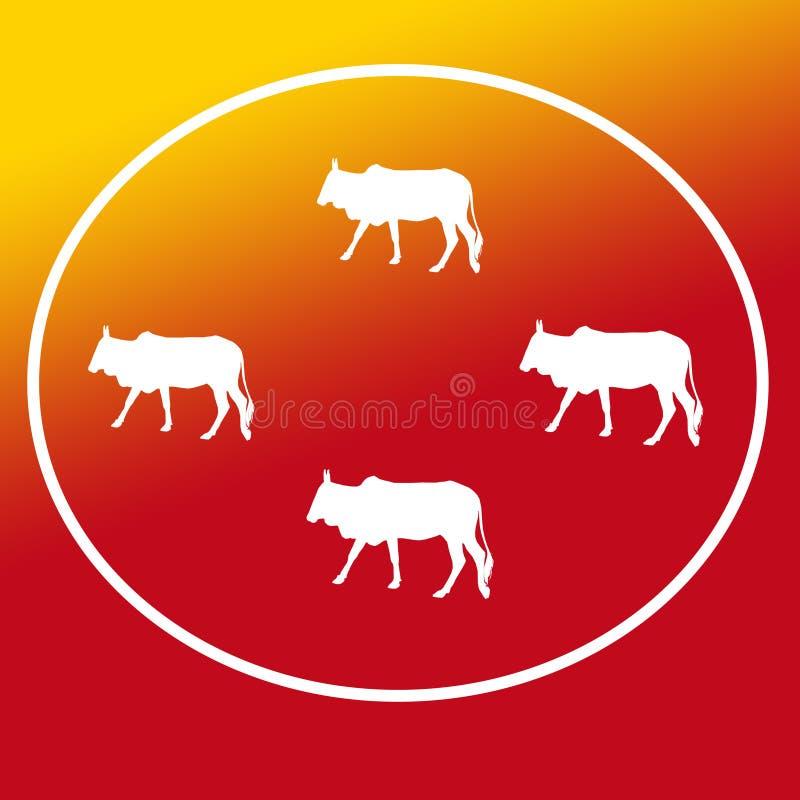 Les b?tail domestiques effrayent Logo Background Banner illustration libre de droits