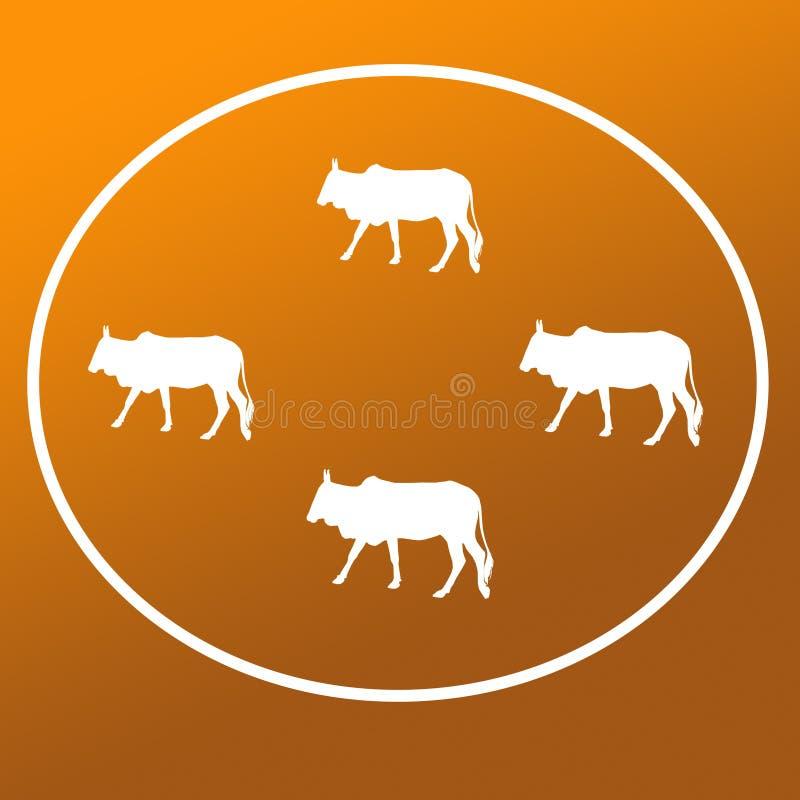 Les b?tail domestiques effrayent Logo Background Banner illustration stock