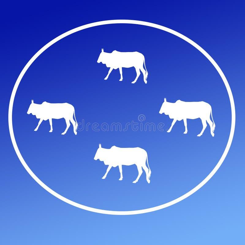 Les b?tail domestiques effrayent Logo Background Banner illustration de vecteur