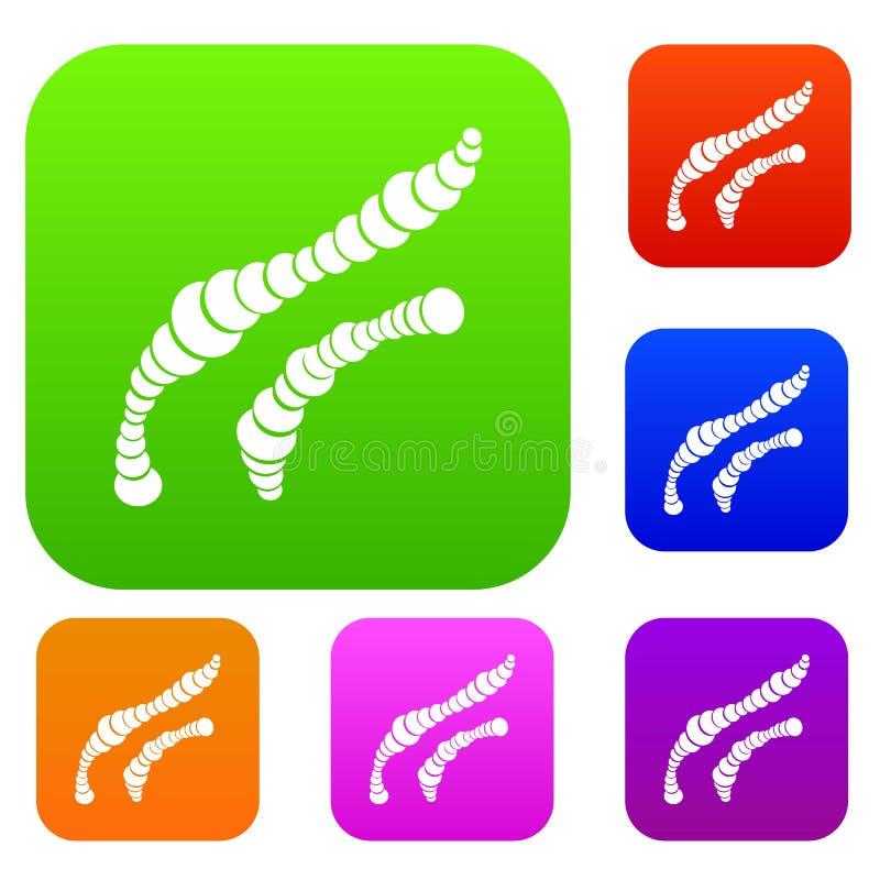 Les bactéries en spirale ont placé la collection illustration de vecteur