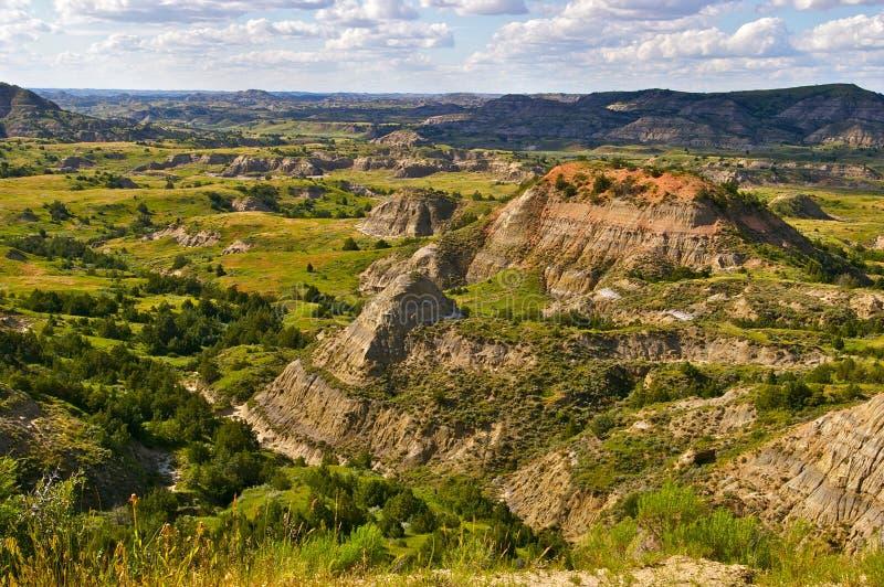 Les bad-lands du Dakota du Nord photographie stock libre de droits
