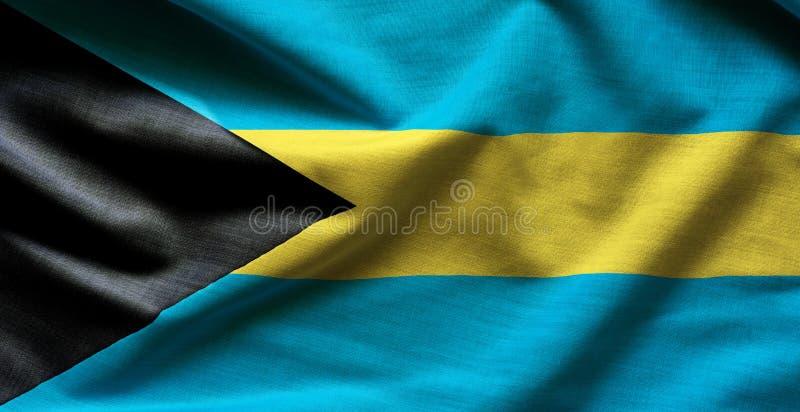 Les Bahamas ondulant le drapeau photo stock