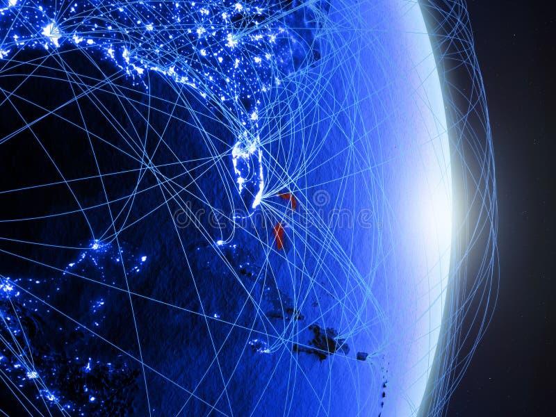 Les Bahamas sur la terre numérique bleue bleue photo libre de droits