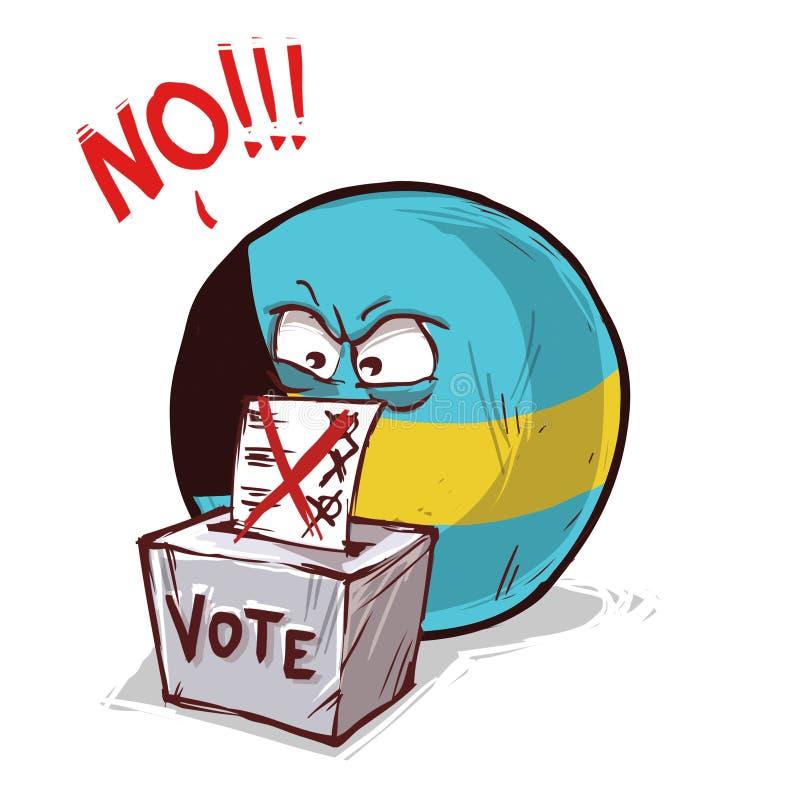 Les Bahamas votant non illustration stock