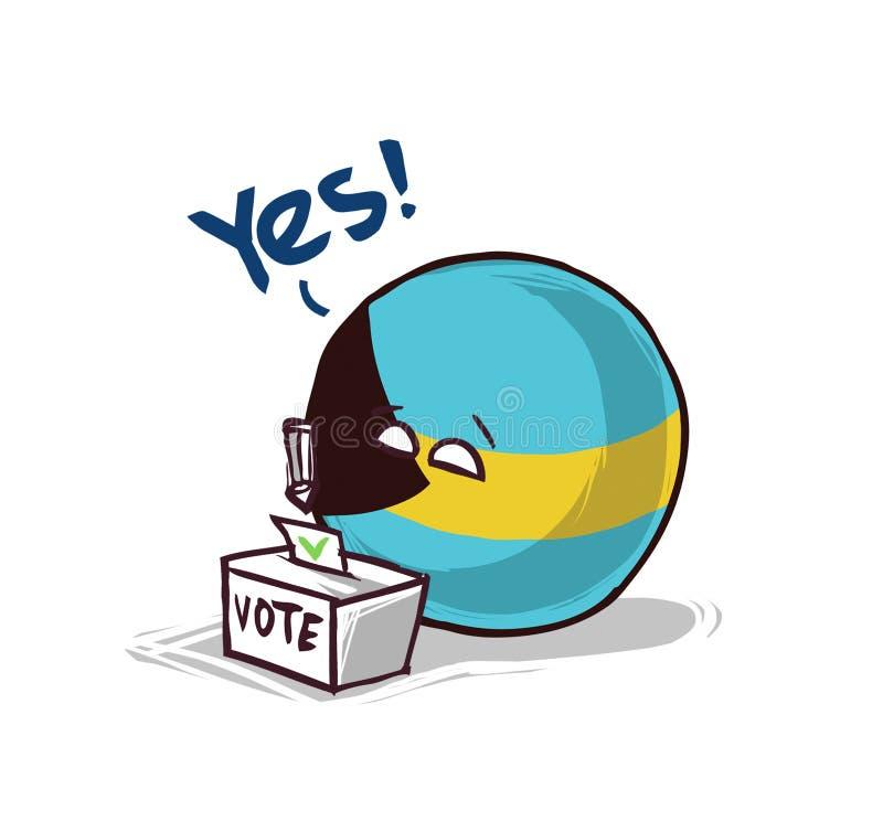 Les Bahamas votant non illustration libre de droits