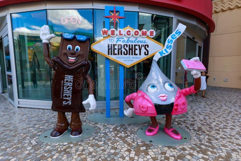 Les baisers font des emplettes au nouveaux York-nouveaux hôtel de York et casino, bande de Las Vegas dans le paradis, Nevada, Eta photographie stock libre de droits