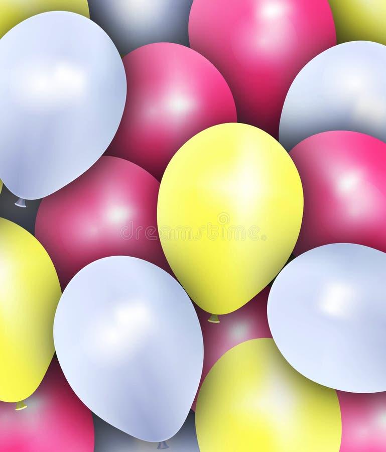 Les ballons colorés de la fête Historique de la fête photographie stock libre de droits