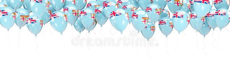 Les ballons encadrent avec le drapeau du Fiji illustration libre de droits