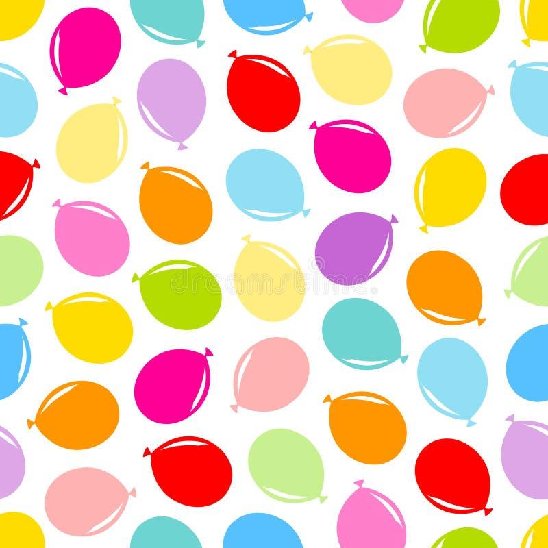 Les ballons graphiques diagonaux colorés de modèle sans couture se mélangent illustration libre de droits