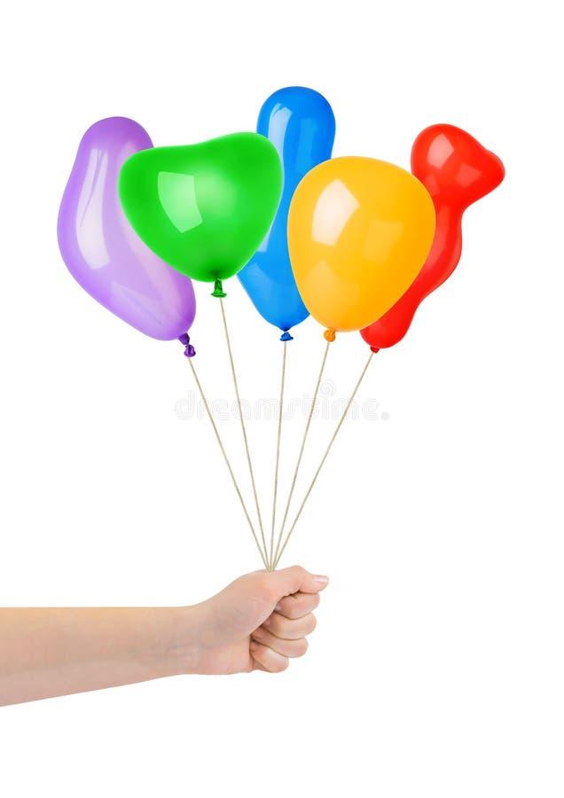 les ballons remettent multicolore images libres de droits