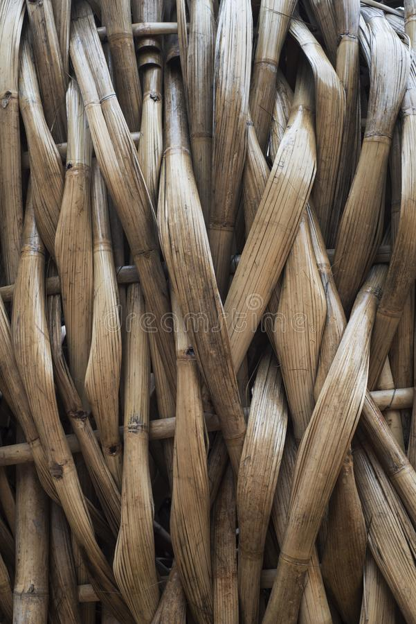 Les bambous aplatis ont piqué ensemble photos stock
