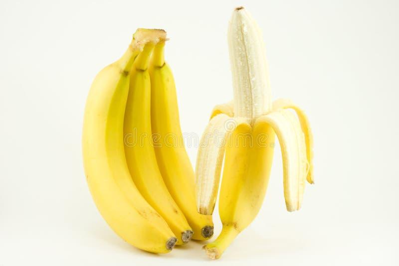 les bananes quatre ont isolé le blanc photo stock