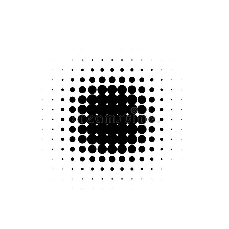 Les bandes dessinées d'isolement de bande dessinée pointillées par image tramée noire de forme ronde d'abrégé sur couleur épongen illustration libre de droits