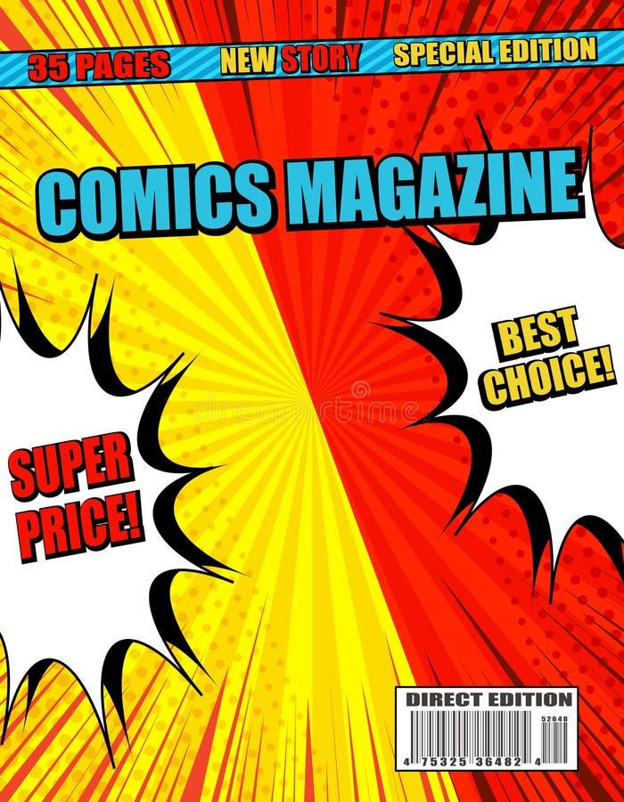 Les bandes dessinées se battent en duel et combattent l'affiche illustration stock